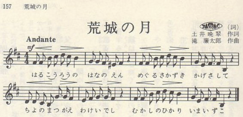 Image of sheet music before removing background