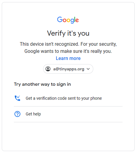 Get a verification code sent to your phone.