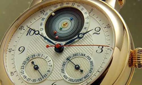 Orrery wrist watch by Christiaan van der Klaauw