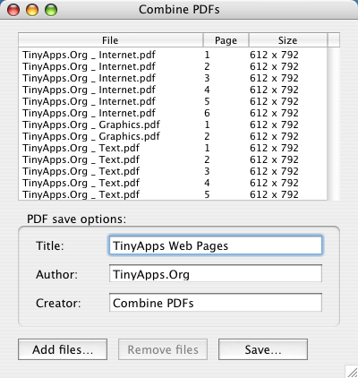 combine pages inot 1 pdf