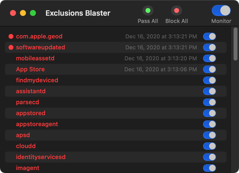 Exclusions Blaster screenshot