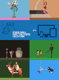 Ghibli Pixel Wallpaper Pack