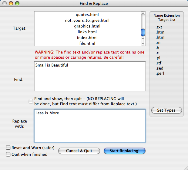 Applescript to replace selected text only using grep ...